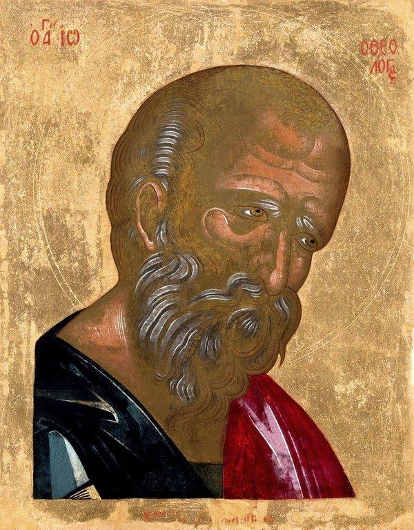 Святой Апостол и Евангелист Иоанн Богослов. Икона. КриТ, XVIII век.