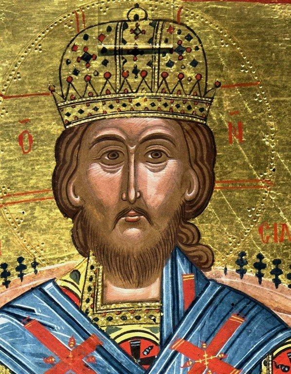 Христос Великий Архиерей. Икона в Византийском музее в Кастории, Греция.