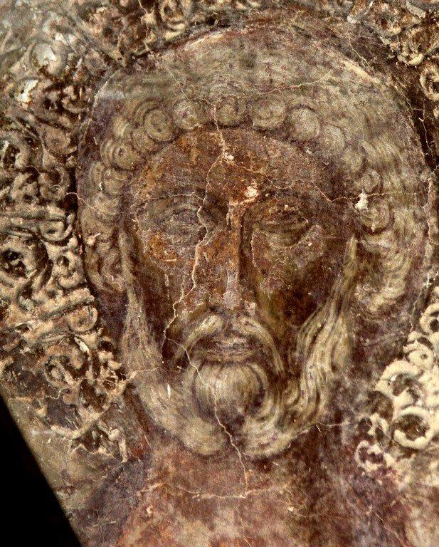 Святой Великомученик Мина. Фреска церкви Святого Василия на Агоре в Арте, Греция.