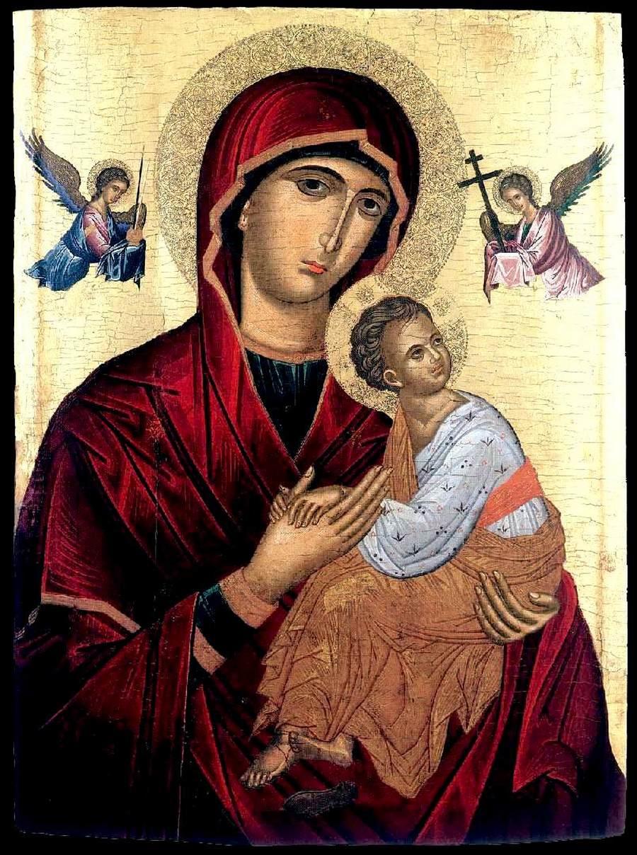 Страстная икона Божией Матери. Крит, около 1490 года. Иконописец Андреас Рицос.