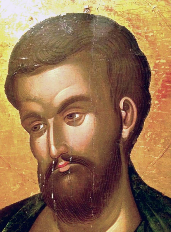 Святой Апостол Варфоломей. Греческая икона XVI века. Фрагмент.