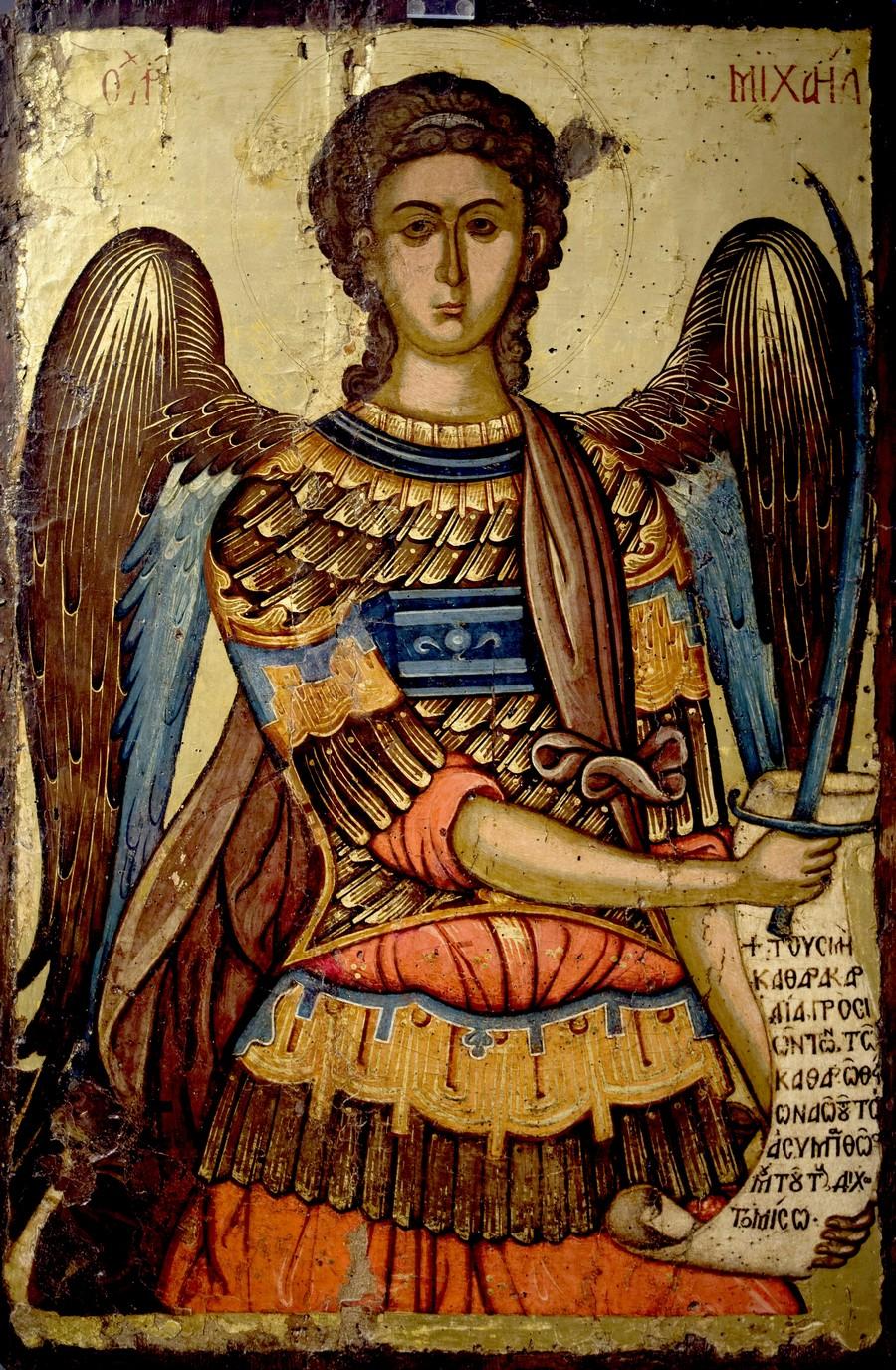 Архистратиг Михаил. Греческая икона. Византийский музей в Афинах.