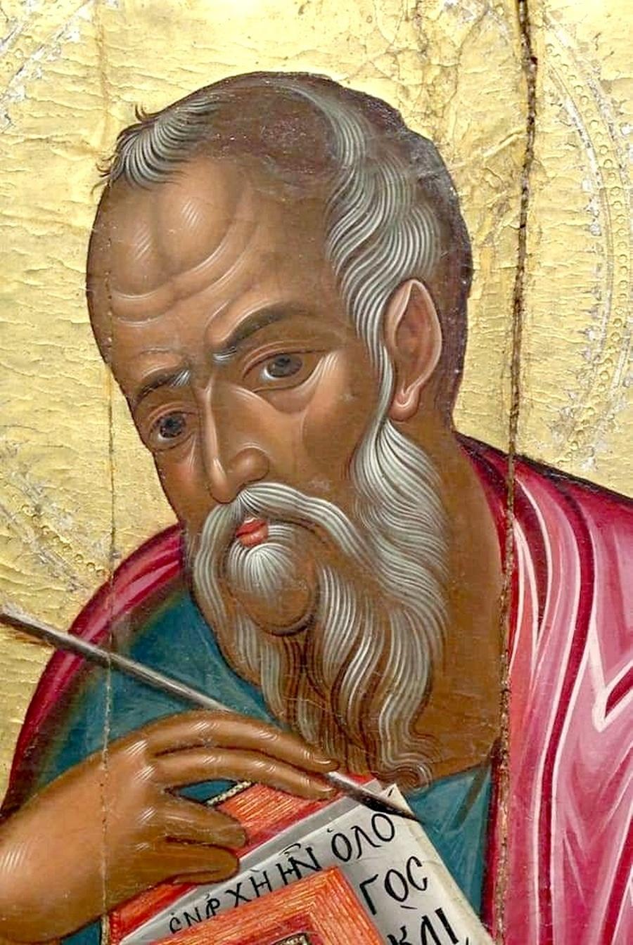 Святой Апостол и Евангелист Иоанн Богослов. Фрагмент кипрской иконы XVI века.