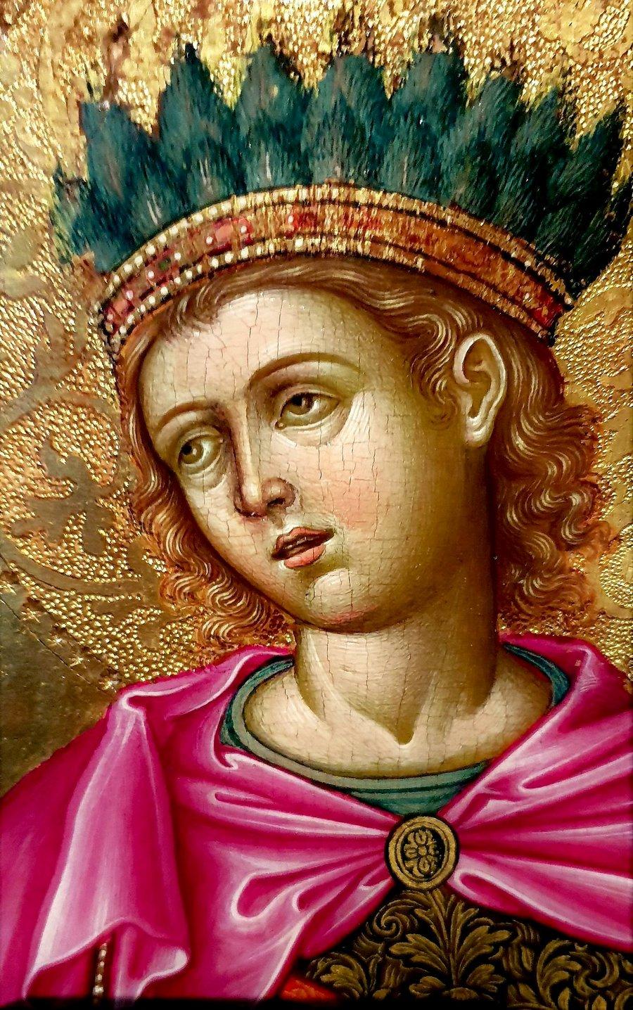 Святой Мученик Гаведдай, царевич Персидский. Икона. Греция, 1665 год. Фрагмент.