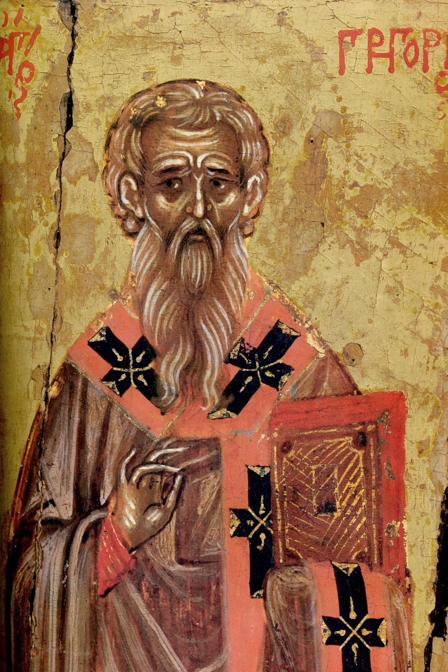 Священномученик Григорий, Просветитель Армении. Фрагмент греческой иконы середины XVII века. Монастырь Пантократора на Афоне.