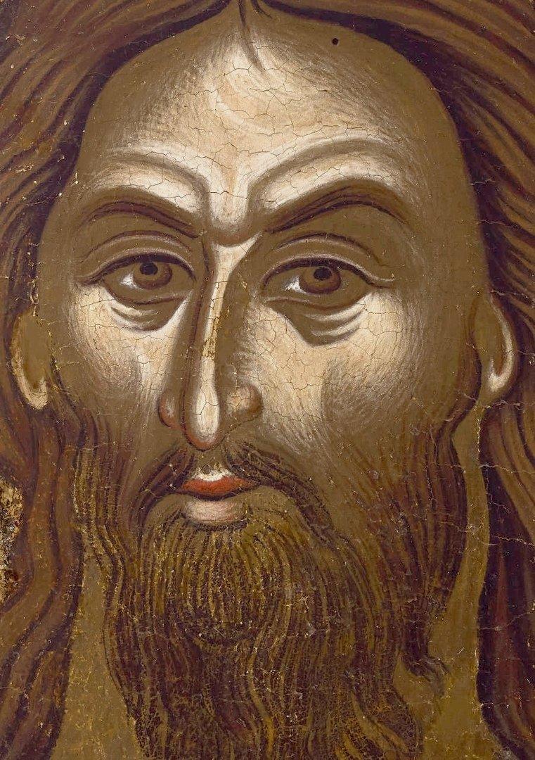 Святой Иоанн Предтеча Ангел пустыни. Греческая икона XVII века. Святой Иоанн Предтеча изображён с Ангельскими крыльями как великий подвижник и пустынножитель, своим житием уподобившийся Ангелам.