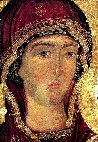 Богоматерь Одигитрия. Икона XV века в монастыре Ксенофонт на Афоне.