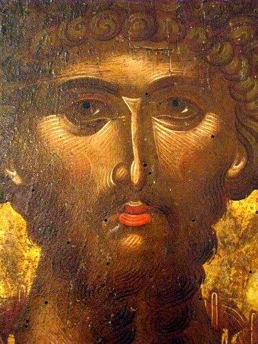 Святой Великомученик Феодор Стратилат. Фрагмент иконы критской школы.