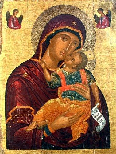 Богоматерь Елеуса. Икона. Крит, XVI век.