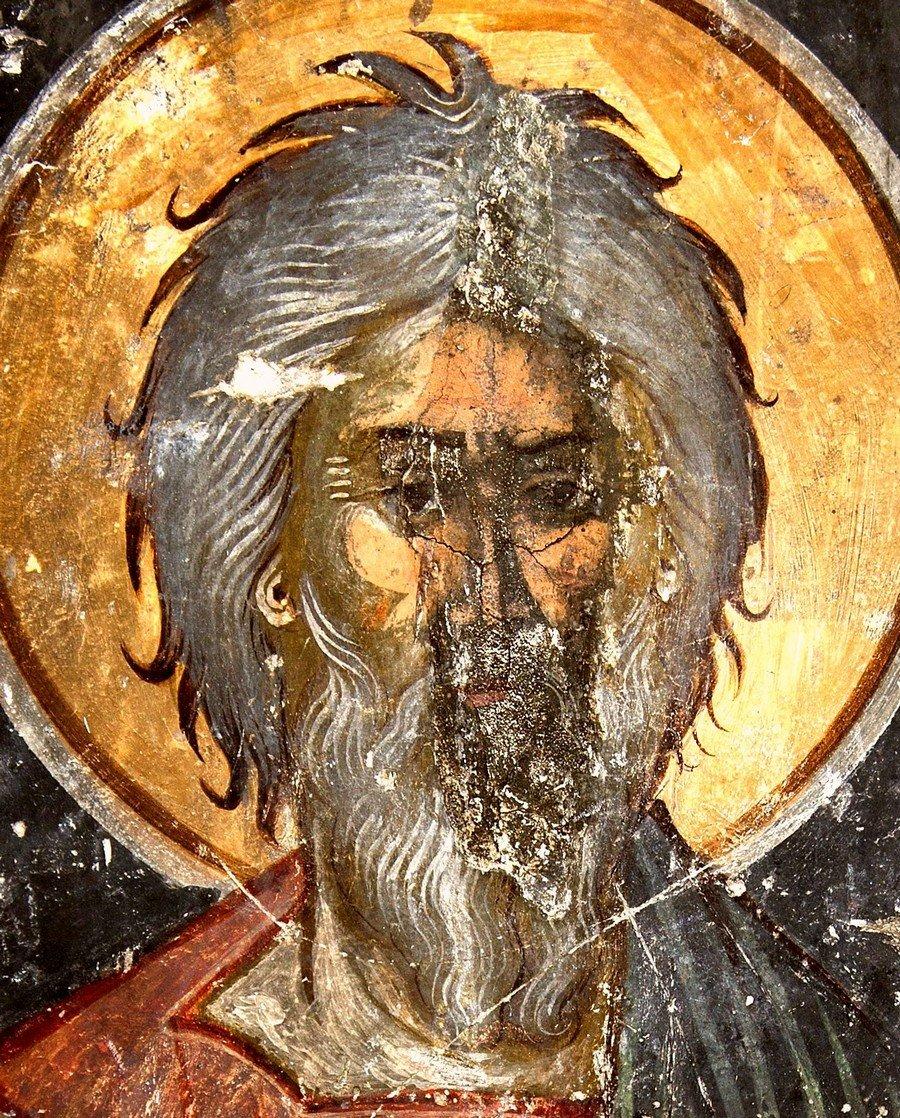 Святой Апостол Андрей Первозванный. Фреска церкви Панагии Паригоритиссы в Арте, Греция.