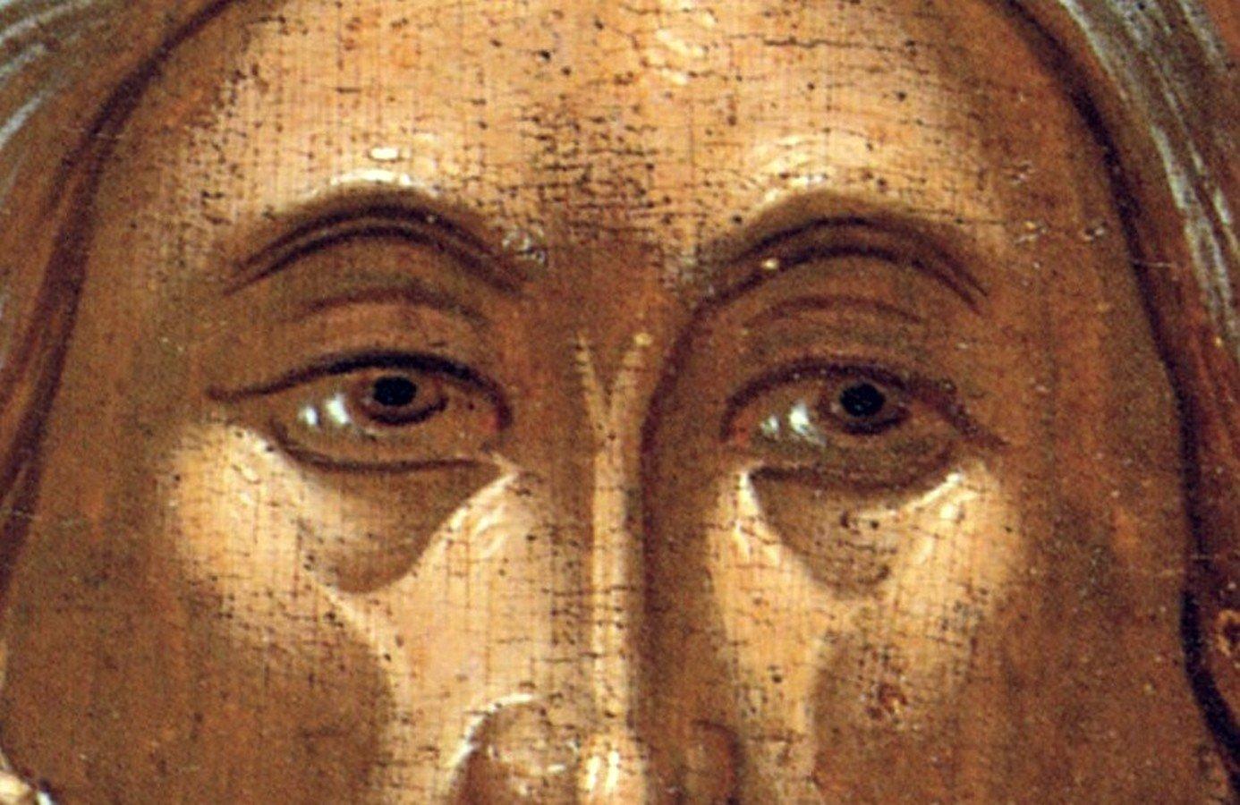 Святой Апостол Андрей Первозванный. Икона. Крит, около 1570 года. Фрагмент.