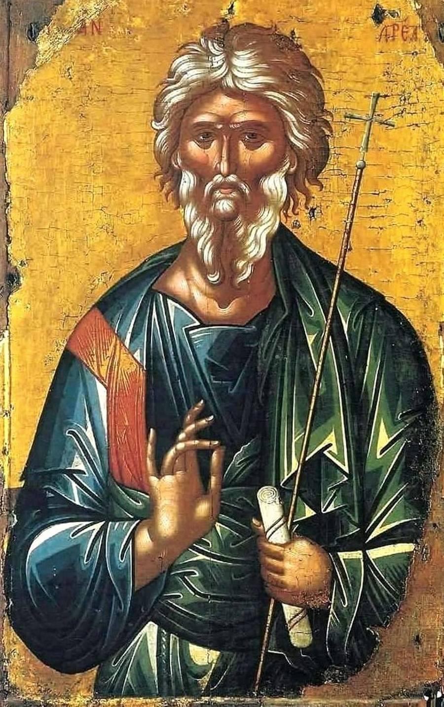 Святой Апостол Андрей Первозванный. Греческая икона.