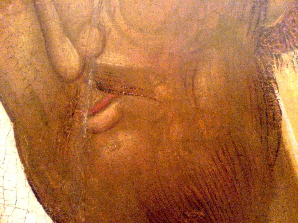 Святитель Леонтий, Епископ Ростовский. Икона. Ростов Великий, начало XVI века. Фрагмент.