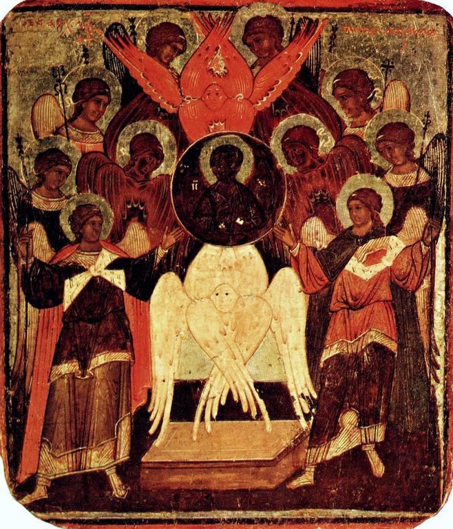 Собор Архангела Гавриила. Икона. Новгород (?), начало XVII века.