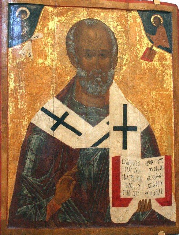 Святитель Николай, Архиепископ Мир Ликийских, Чудотворец. Икона. Тверь, XVI век.