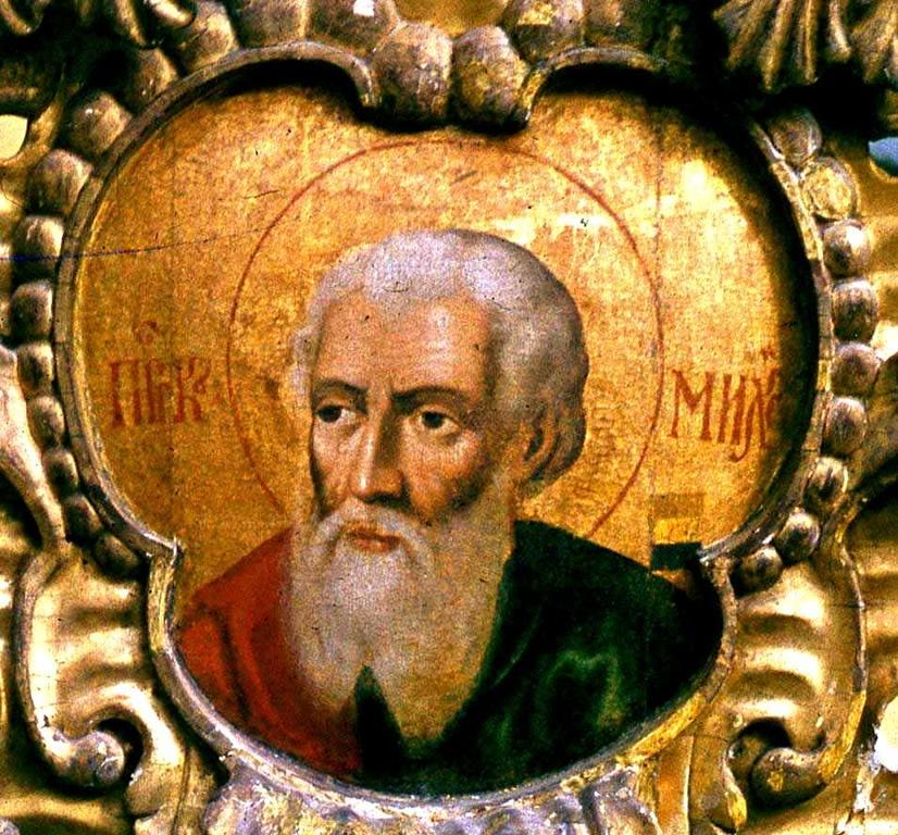 Святой Пророк Михей. Икона в церкви Покрова в Филях. Артель Карпа Золотарёва, 1694 год.
