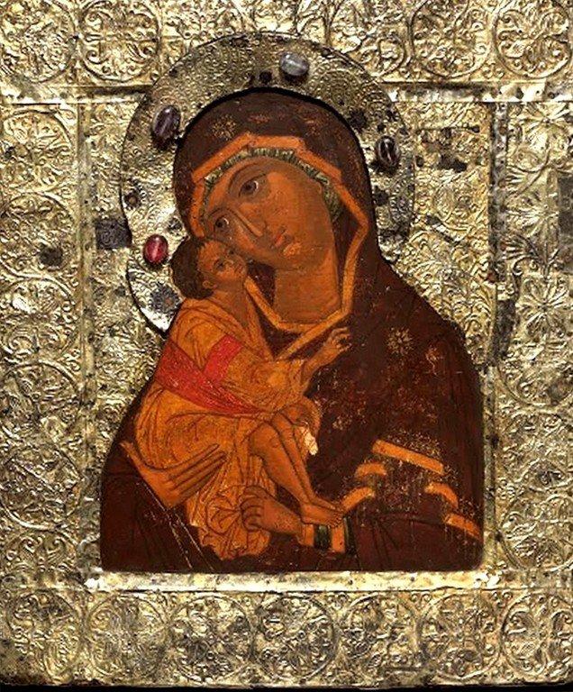 Донская икона Божией Матери. Россия, около 1650 года.