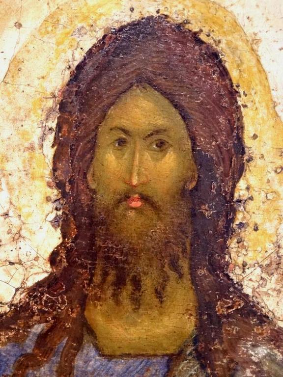 Святой Иоанн Предтеча. Фрагмент русской иконы конца XIV - начала XV веков.