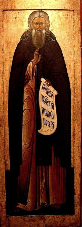 Святой Преподобный Сергий, Игумен Радонежский, Чудотворец. Икона XVII века.