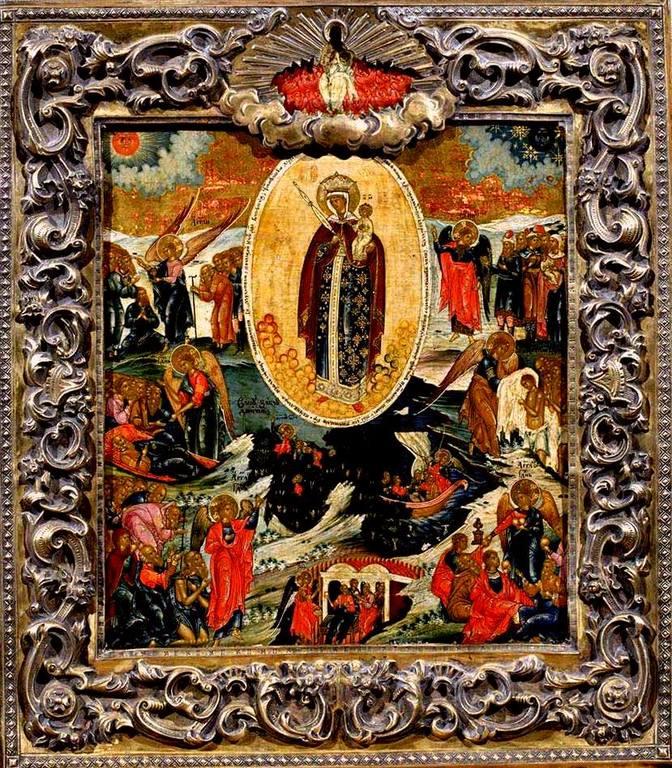 """Икона Божией Матери """"Всех скорбящих Радость"""". Москва, 1840-е годы."""