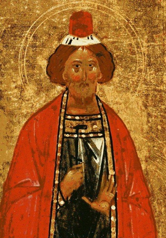 Святой Великомученик Иаков Персянин. Фрагмент новгородской иконы конца XV века.
