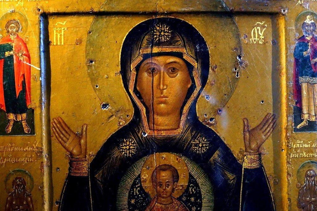 """Икона Божией Матери """"Знамение"""" Новгородская."""