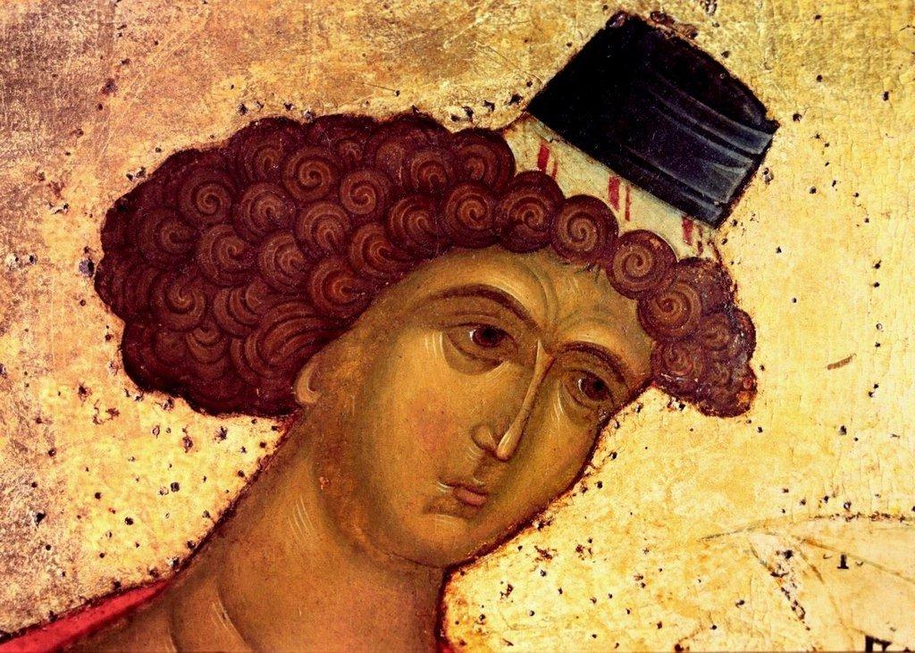 Святой Пророк Даниил. Фрагмент иконы из Успенского собора Кирилло-Белозерского монастыря. Около 1497 года.