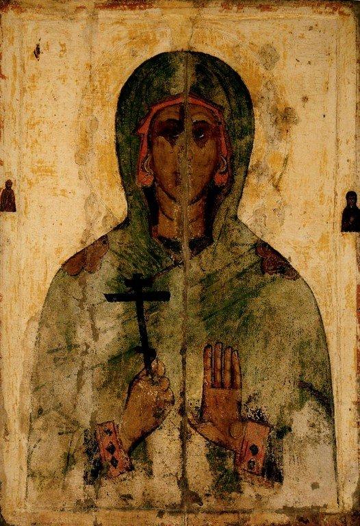 Святая Мученица Иулиания Никомидийская. Икона. Псков, XIV век.
