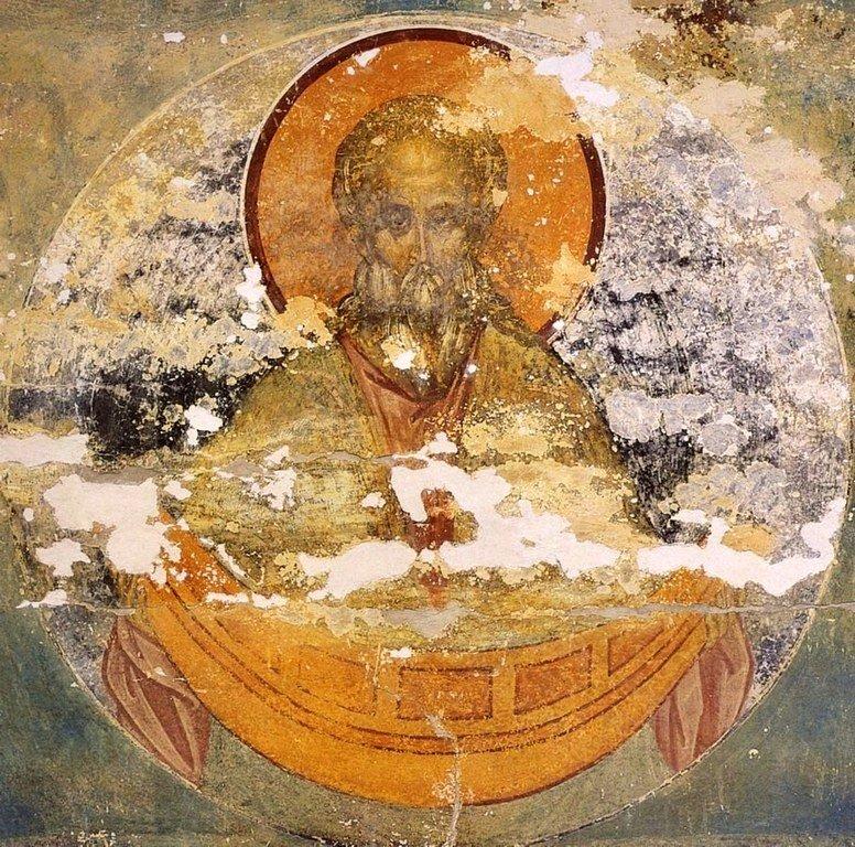 Святой Праотец Ной. Фреска Дионисия в соборе Рождества Пресвятой Богородицы в Ферапонтовом монастыре. 1502 год.