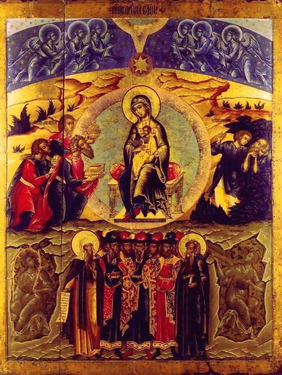 Собор Пресвятой Богородицы. Икона. Ярославль, 1680 - 1690-е годы.
