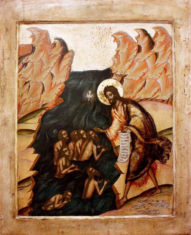 Собор Святого Иоанна Предтечи. Икона. Россия, 1720-е годы.