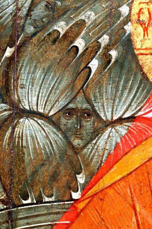 Спас в Силах. Икона. Москва, XVI век. Фрагмент.
