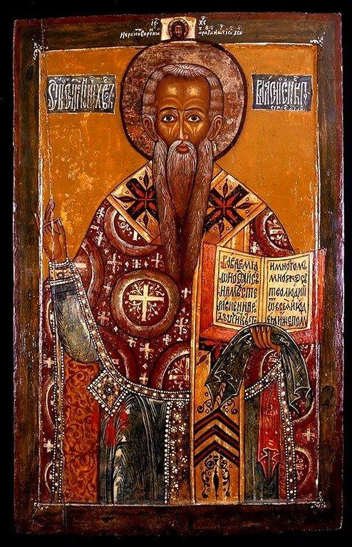 Священномученик Власий, Епископ Севастийский. Икона. Русский Север, конец XVII века.