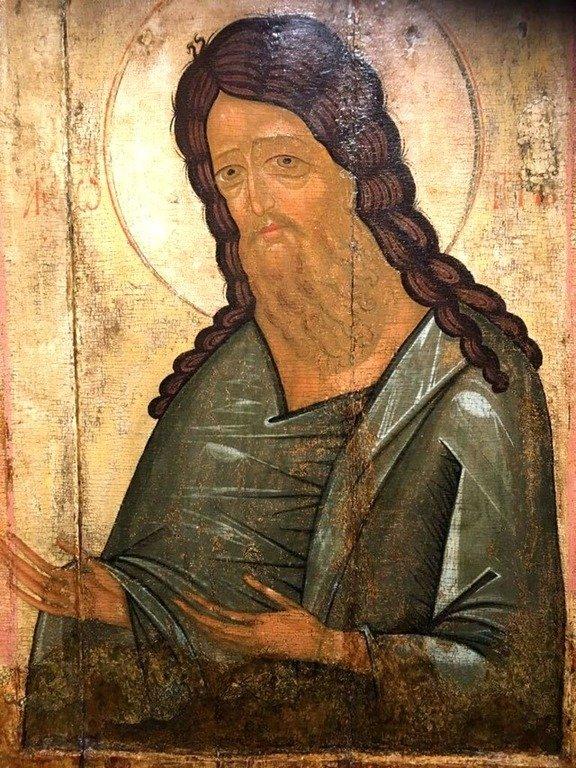 Святой Иоанн Предтеча. Икона. Тверь, первая половина XV века.
