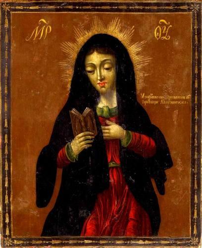 Калужская икона Божией Матери. Калуга (?), середина XIX века.