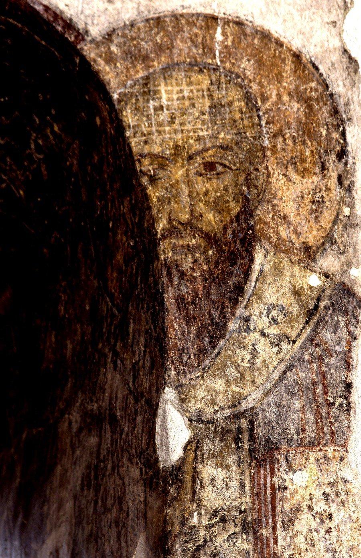 Святитель Кирилл, Архиепископ Александрийский. Фреска монастыря Кобайр, Армения. Выполнена грузинскими мастерами в XIII веке, когда монастырь был православным.