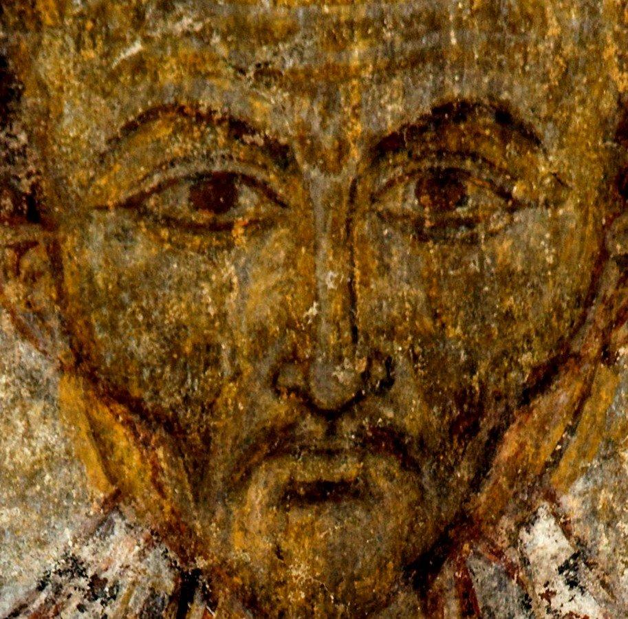 Святитель Иоанн Златоуст. Фреска монастыря Кобайр, Армения. Выполнена грузинскими мастерами в XIII веке, когда монастырь был православным.