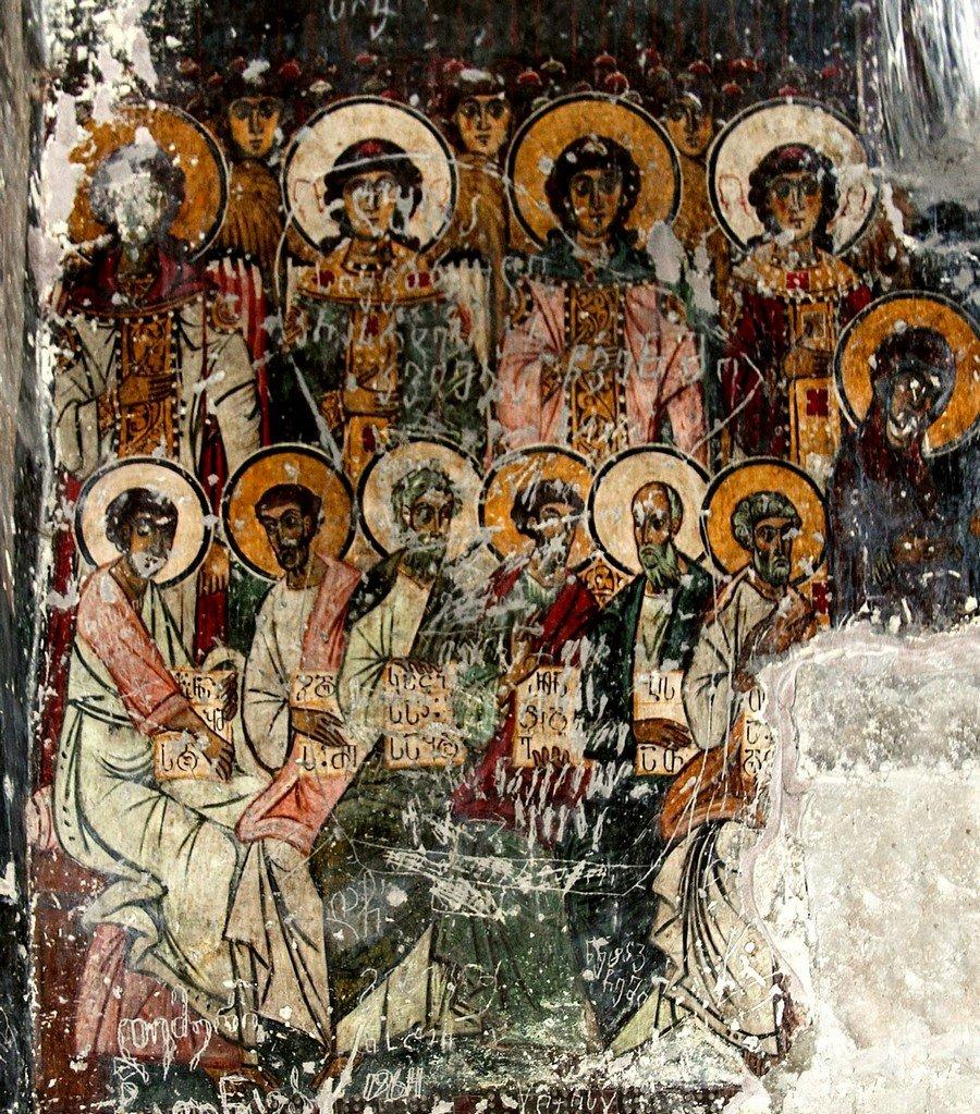 Фрески монастыря Святого Георгия в Чуле (монастыря Чулеви), Грузия. 1381 год. Иконописец Арсен. Страшный Суд.