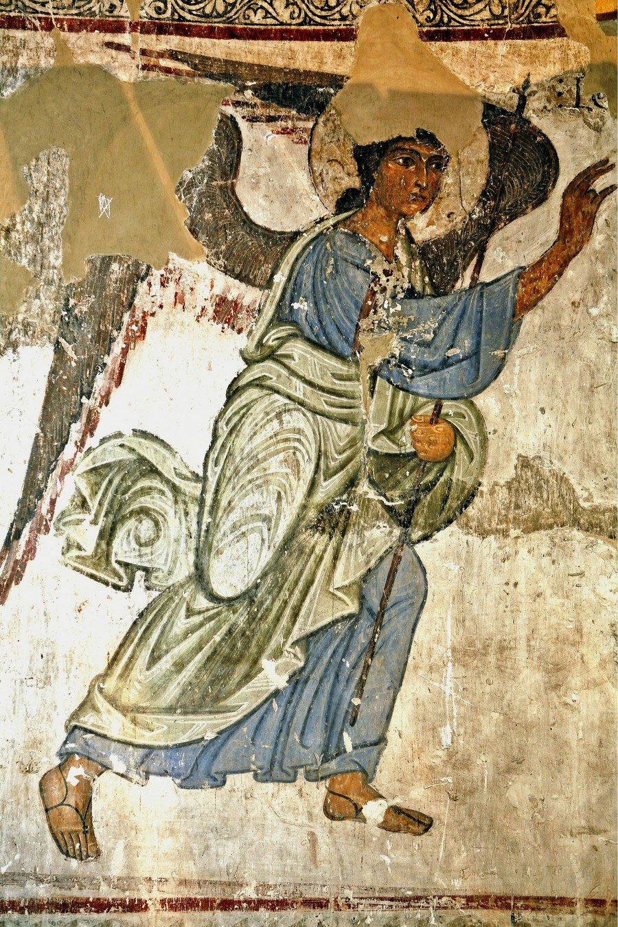 Архангел Гавриил. Фреска храма Атени Сиони (Атенский Сион), Грузия. 1080 год.