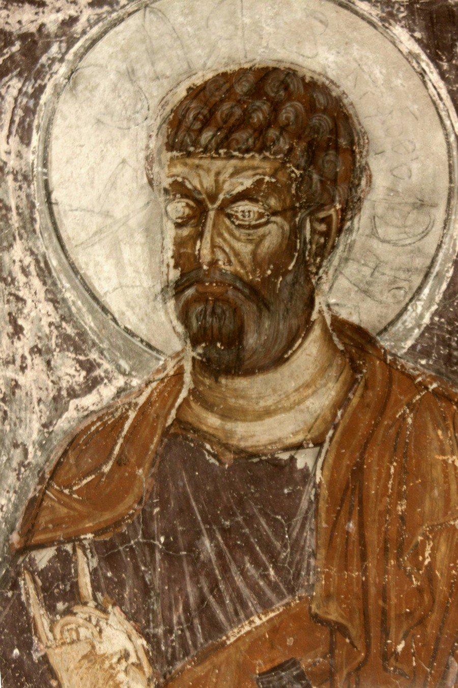 Святой Апостол. Фреска монастыря Шиомгвиме (Шио-Мгвимского монастыря), Грузия.