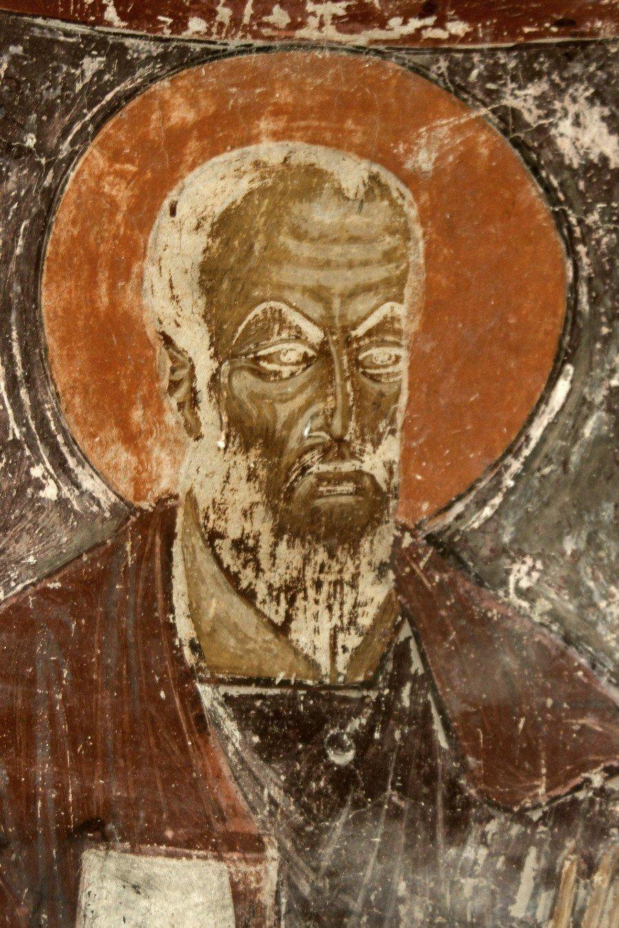 Святой Апостол Павел (?). Фреска монастыря Шиомгвиме (Шио-Мгвимского монастыря), Грузия.