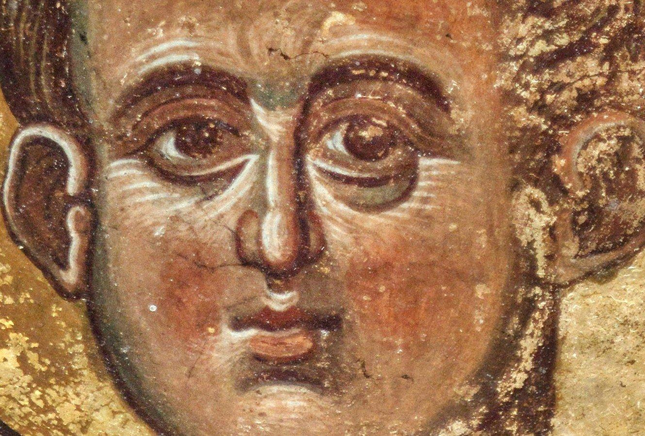 Христос Эммануил. Фреска монастыря Тири, Южная Осетия. XIV - XV век.