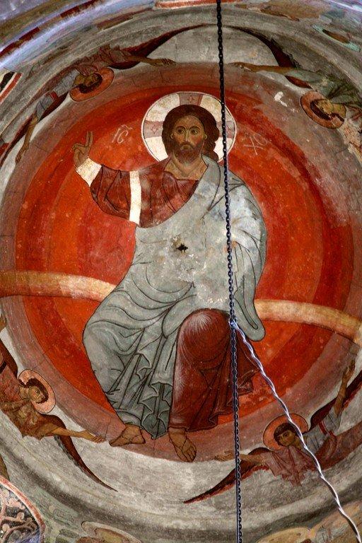 Вознесение Господне. Фреска купола храма Святого Саввы в монастыре Сапара, Грузия.