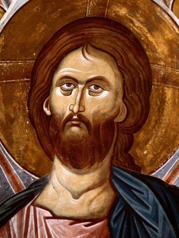 Христос во славе. Фреска церкви Святого Георгия в монастыре Убиси, Грузия. Середина - вторая половина XIV века. Лик.