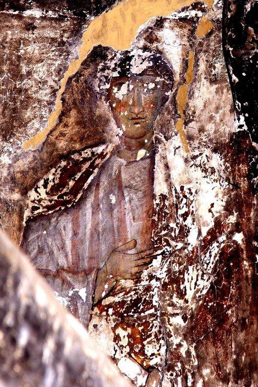 Святой Апостол Филипп. Фреска церкви Спасителя в Чвабиани, Сванетия, Грузия. 978 - 1001 годы.