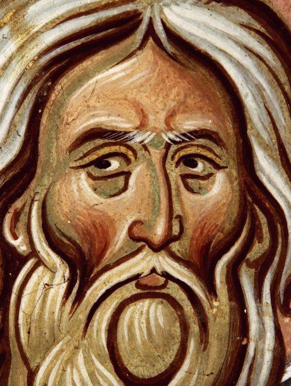 Святой Пророк Иезекииль (?). Фреска церкви Святого Георгия в монастыре Убиси, Грузия. Середина - вторая половина XIV века.