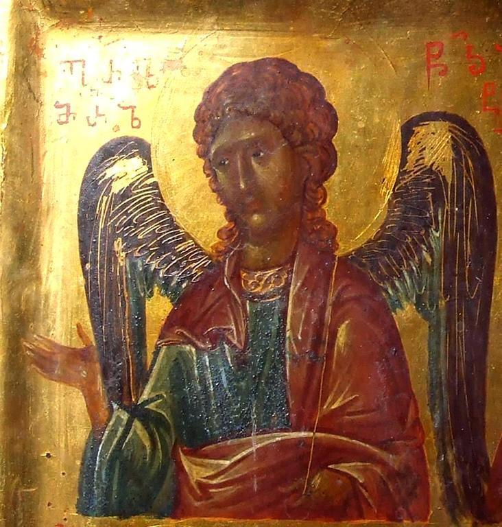 Архангел Гавриил. Фрагмент грузинской иконы. Монастырь Святой Екатерины на Синае.