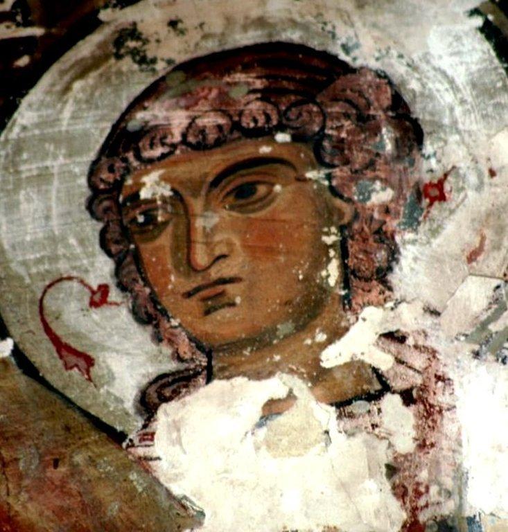 Ангел Господень. Фреска монастыря Сапара, Грузия. XIII век.