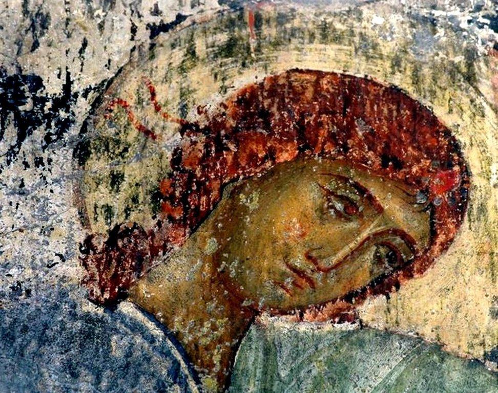 Ангел Господень. Фреска монастыря Вардзиа (Вардзия), Грузия. XII век.