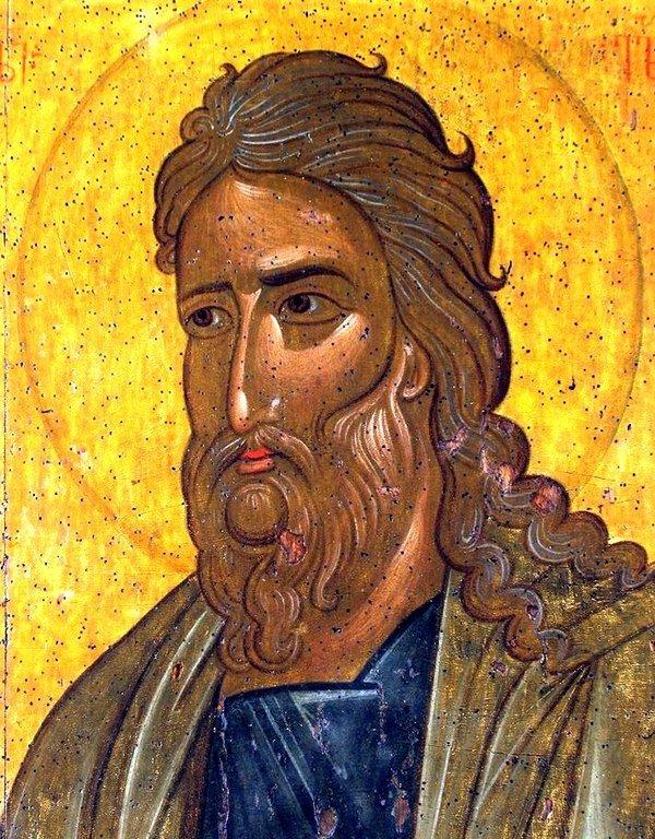 Святой Пророк Божий Илия. Икона из монастыря Убиси (Убиса), Грузия. XIV век. Лик.